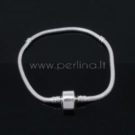 Pandora stiliaus apyrankė, pasidabruota, 20 cm x 3 mm