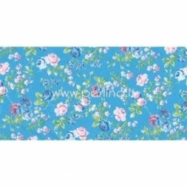 """Plonas dekoravimo popierius """"Blue & Green Flowers"""", 30x40 cm, 3 vnt."""