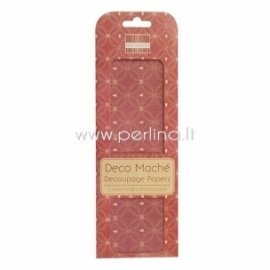 """Deco Mache Paper """"Hearts"""", 26x37,5 cm, 3 pcs"""