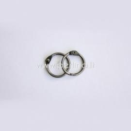 Metalinis žiedas albumui, tamsinto sidabro sp., 20 mm, 2 vnt.