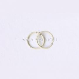 Metalinis žiedas albumui, dramblio kaulo sp., 20 mm, 2 vnt.