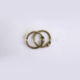 Metalinis žiedas albumui, ant. žalvario sp., 20 mm, 2 vnt.
