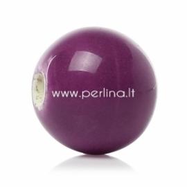 Ceramics bead, purple, 12 mm