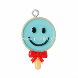 "Resin pendant ""Lollipop"", 32x18 mm"