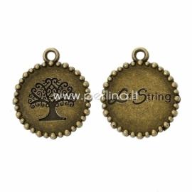 "Pakabukas ""Lita String"", ant. bronzos sp., 25x21 mm"