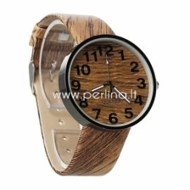 Laikrodis, medžio imitacija, 23 cm