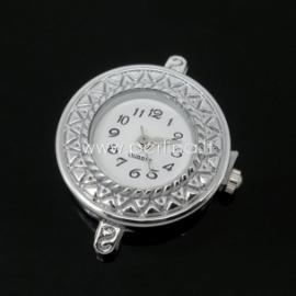 Laikrodis, apvalus, sidabro sp., 32x26 mm