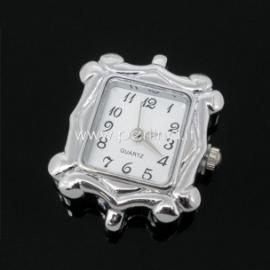 Laikrodis, kvadratinis, sidabro sp., 30x25 mm