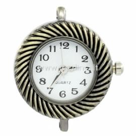 Laikrodis, apvalus, ant. bronzos sp., 31x27 mm