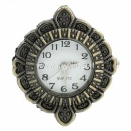 Laikrodis, apvalus, ant. bronzos sp., 32x28 mm