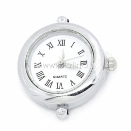 Laikrodis, apvalus, sidabro sp., 27x25 mm