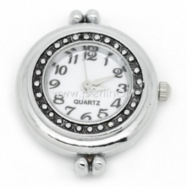 Laikrodis, apvalus, sidabro sp., 31x27 mm