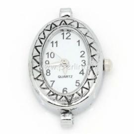 Laikrodis, ovalus, sidabro sp., 33x22 mm