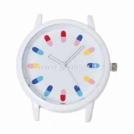 Laikrodis, apvalus, baltos sp., 4,8x4,4 cm