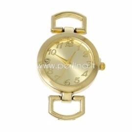 Laikrodis, apvalus, paauksuotas, 4,9x2,9 cm