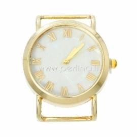 Laikrodis, apvalus, paauksuotas, 40x34 mm