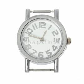 Laikrodis, apvalus, sidabro sp., 33x28 mm