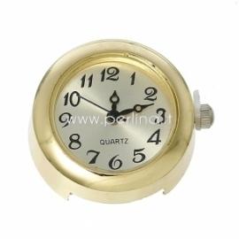 Laikrodis, apvalus, paauksuotas, 26x23 mm