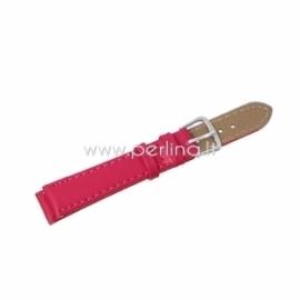 Dirbtinės odos apyrankė laikrodžiui, t. rožinė sp., 10,5-7,5 cm