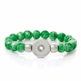Stiklo karoliukų NOOSA apyrankė, žalios sp., 21 cm