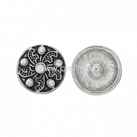 """NOOSA spaudė """"Gėlė"""", metalinė, 16 mm"""