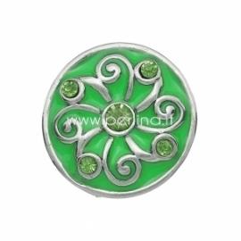 """NOOSA spaudė """"Žalia gėlė"""", metalinė, 20 mm"""