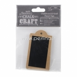 "Kreidinės etiketės ""Chalk Kraft Parcel Tags"", 10 vnt."