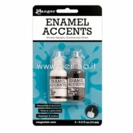 "Mediumas 3D emalio efektui sukurti ""Enamel Accents"", juoda ir balta sp., 2 vnt."