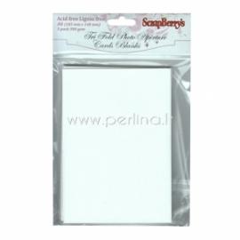 "Atviručių rinkinys ""Tri Fold"", balta sp., 10,5x14,8 cm, 5 vnt"