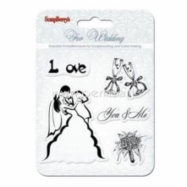"Akrilinis antspaudas ""Wedding. You&Me"", 5 vnt"