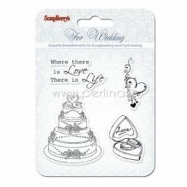 "Akrilinis antspaudas ""Wedding"", 4 vnt"
