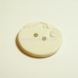 Keramikinė saga, kreminė, 3,8 cm