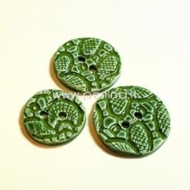 Keramikinė saga, žalia, 4 cm