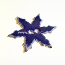 """Keramikinė saga """"Snaigė"""", mėlyna, 6,5x6,5 cm"""