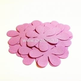 Fabric flower, lilac, 1 pc, select size