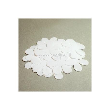 Medžiaginė gėlytė, balta sp., 1 vnt., dydis pasirenkamas