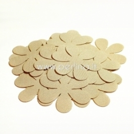 Fabric flower, cream, 1 pc, select size