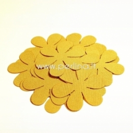 Fabric flower, mustard, 1 pc, select size