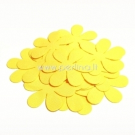 Fabric flower, yellow, 1 pc, select size
