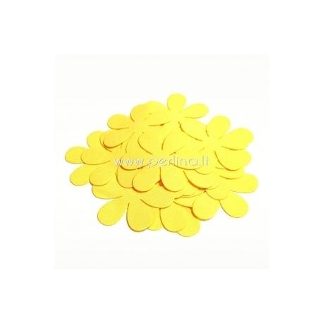 Medžiaginė gėlytė, geltona sp., 1 vnt., dydis pasirenkamas