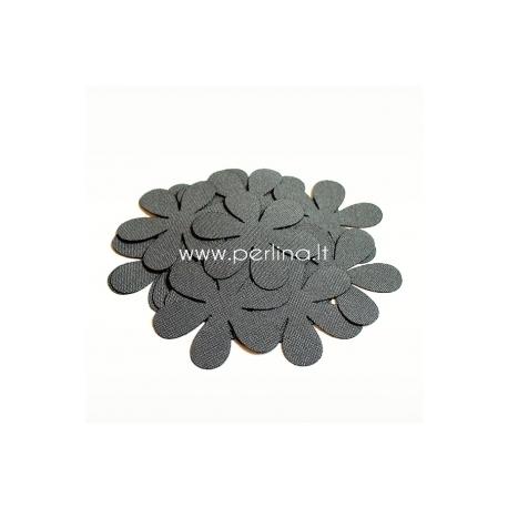 Medžiaginė gėlytė, pilka sp., 1 vnt., dydis pasirenkamas