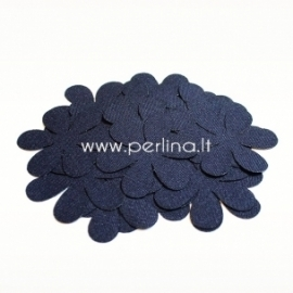 Fabric flower, navy blue, 1 pc, select size