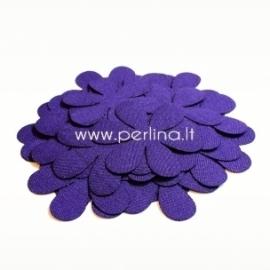 Fabric flower, dark purple, 1 pc, select size