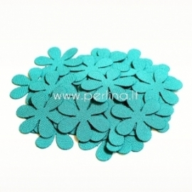 Fabric flower, blue turquoise, 1 pc, select size