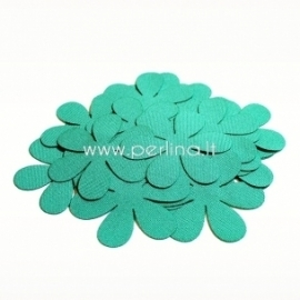 Fabric flower, turquoise, 1 pc, select size