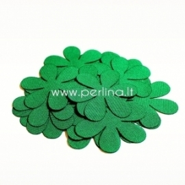 Fabric flower, green, 1 pc, select size