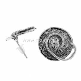 Adatėlė auskarui, ant. sidabro sp., 16x14 mm, 1 pora