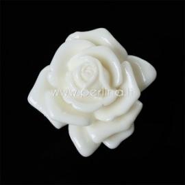 Akrilinis kabošonas-gėlė, kreminės sp., 30x29 mm