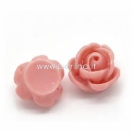 Akrilinis kabošonas-gėlė, persikinės sp., 10 mm
