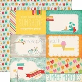 """Paper """"Summer memories - Summer Bliss"""", 30,5x30,5 cm"""
